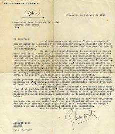 Carta de Scalabrini Ortiz a  Perón