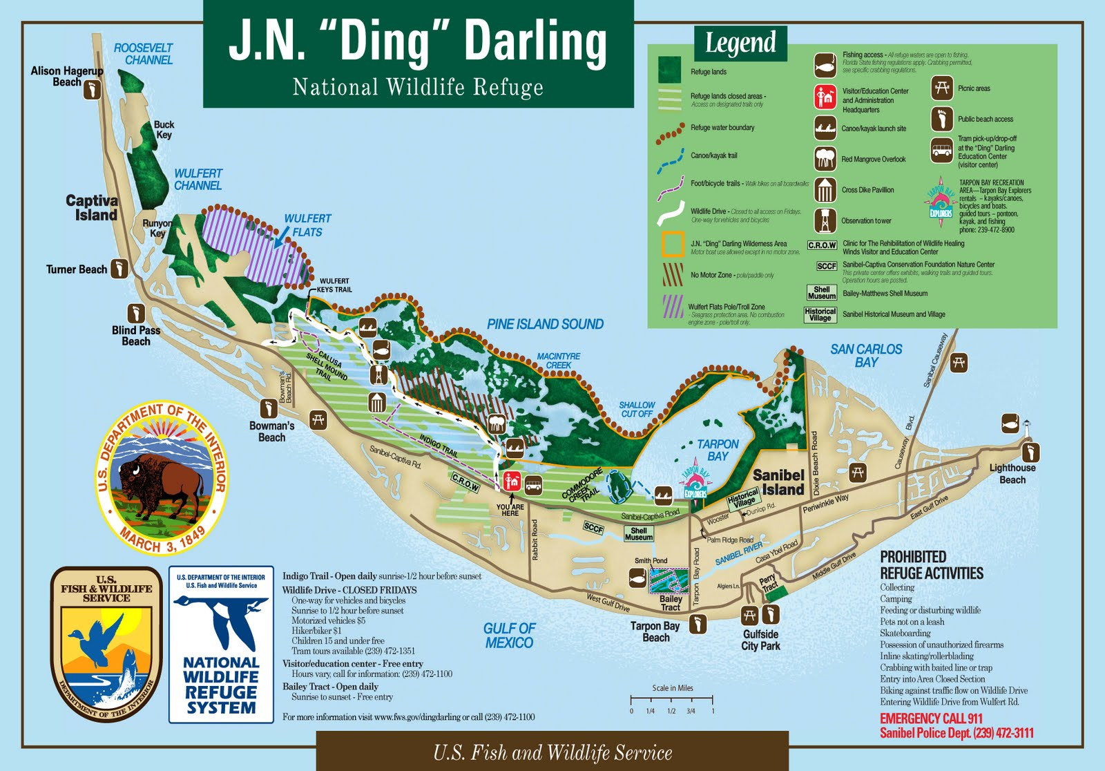 Ding Darling Map on