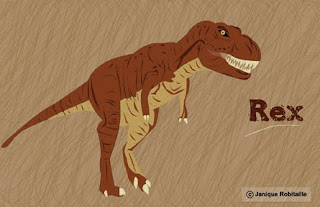 illustration d'un dinosaure T-Rex