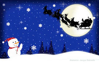illustration fond ecran de noel christmas wallpaper