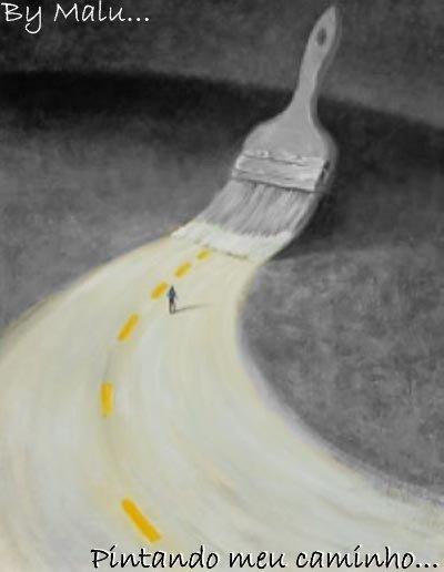 ' Pintando meu caminho...'