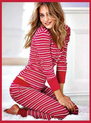 We can think of no better way to spend Christmas morning than in a brand  new pair of PJs. The Lookbook's Fashion ... - Fashion Friday - How To Wear It: Victoria's Secret Christmas Pajamas