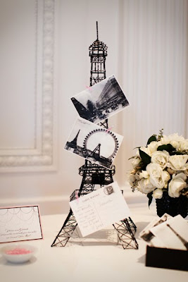 Eiffel Tower with Postcards.