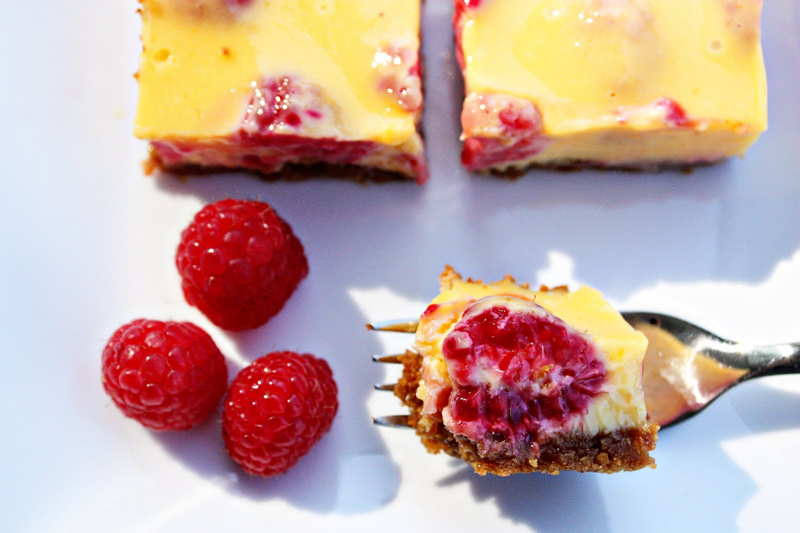 Delightful Bitefuls: Lemon Raspberry Bars