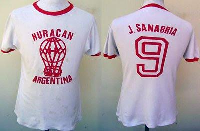 Camiseta Huracán Copa Libertadores 1974