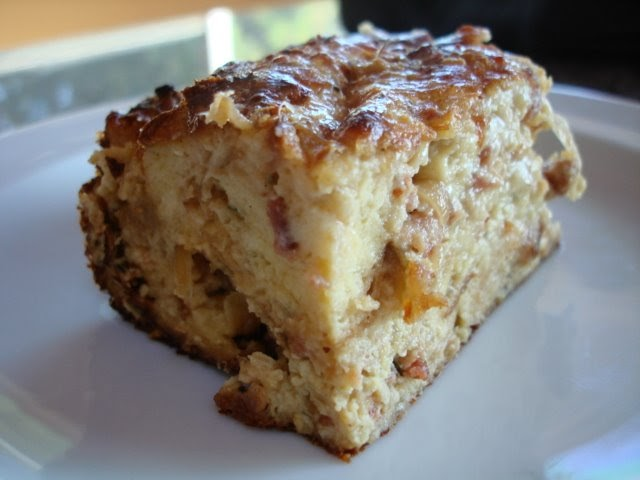 Recipe: Savory bread pudding with caramelized onions and ...