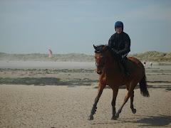 Riding on Beadnell beach