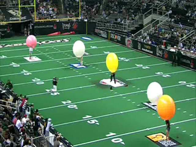 Balloons Popping Cheerleaders