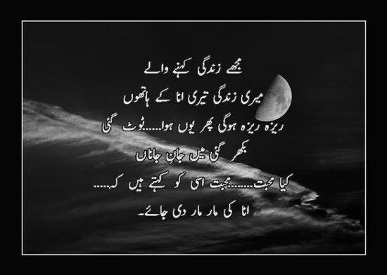 Kya Mohabbat Isse Ko Kehte Hain - Urdu Designed Poetry