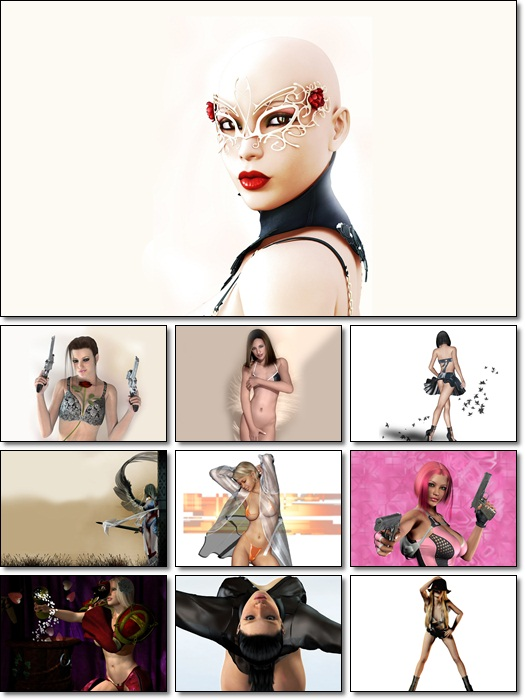 40 Sexy 3D Girls Wallpapers 1680x1050