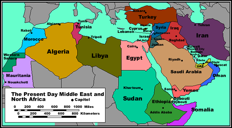 map of north africa southwest asia. map of north african countries