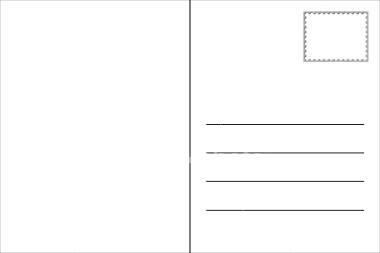 printable blank postcard template .
