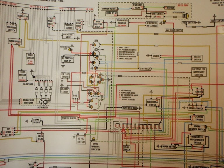 1971 Volvo 1800e Restoration  Color Wiring Diagram
