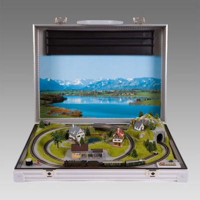 Train Set In A Briefcase Is A Discreet Set For Grown-ups