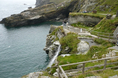view below Tintagel castle
