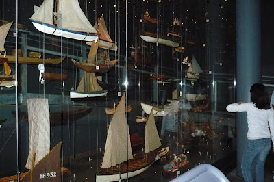 model boats on display