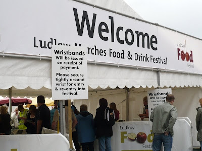 Entrance to Ludlow Food Festival 2008