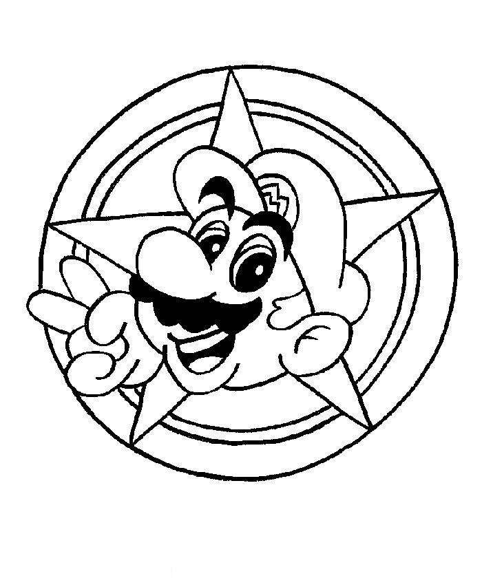 Free Coloring Super Mario. Funny Mario Coloring Pages