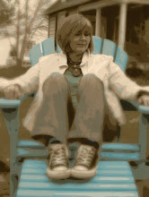 I love my Turquoise Chair and my Chucks!