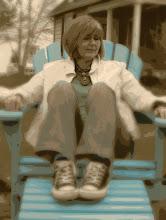 I love my Turquoise Chair and my Chucks!