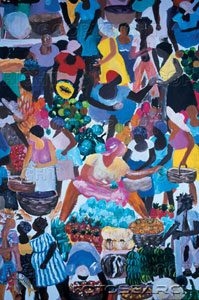 Haiti, Port-au-Prince, naïve paintings