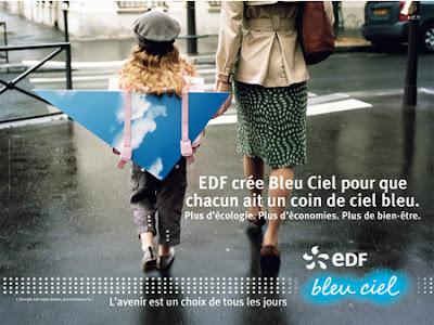 Pub EDF Bleu Ciel
