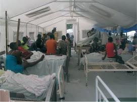 Una tienda médica en el hospital de Saint-Michel