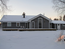 Vårt hus vid havet i vinterskrud!