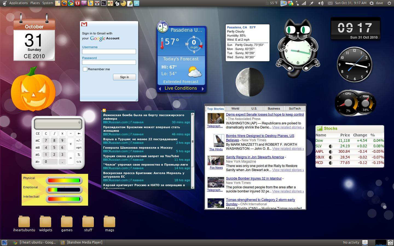 Google Gadgets In Ubuntu