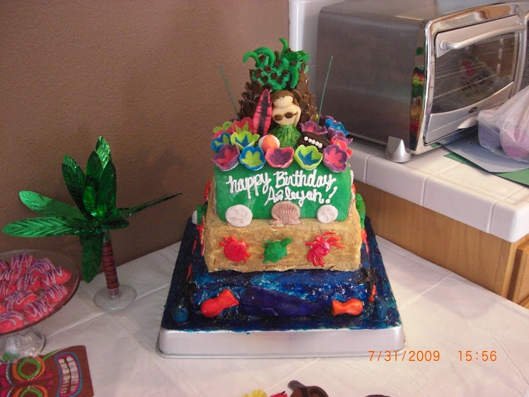 HAWAIIAN BDAY CAKE
