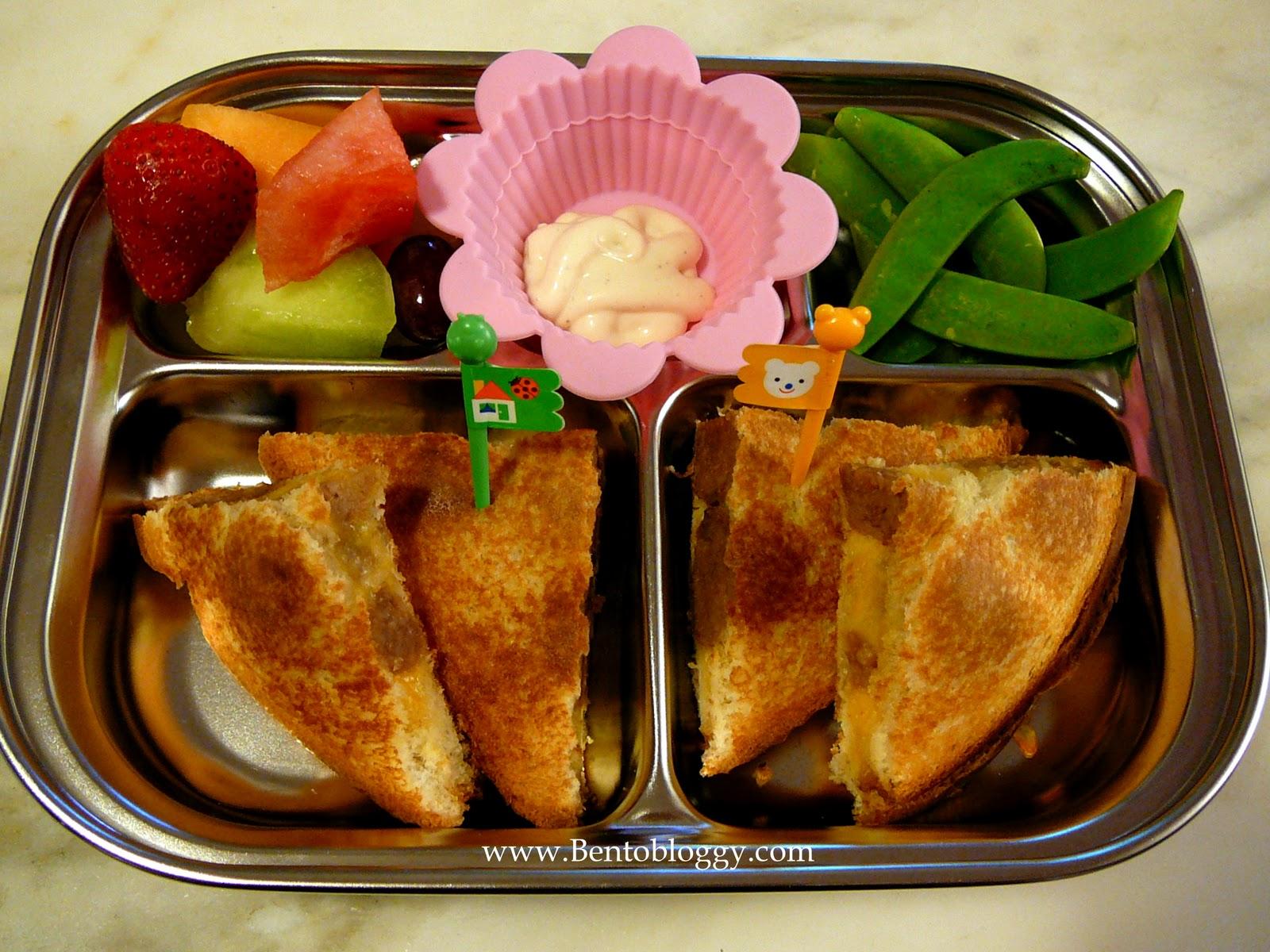 Bentobloggy: Bento #118 - Grilled Meatball Sandwich