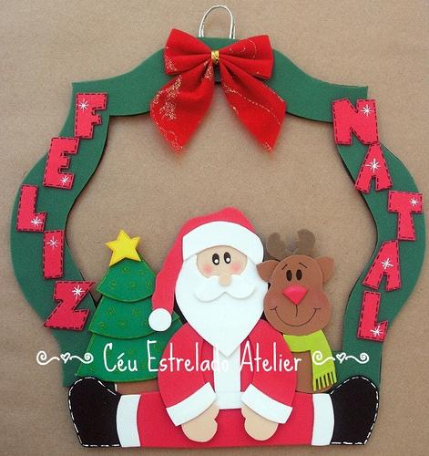 Guirlandas de Natal em EVA ~ Arte De Fazer Decoraç u00e3o e Artesanato -> Decoração Em Eva Natal