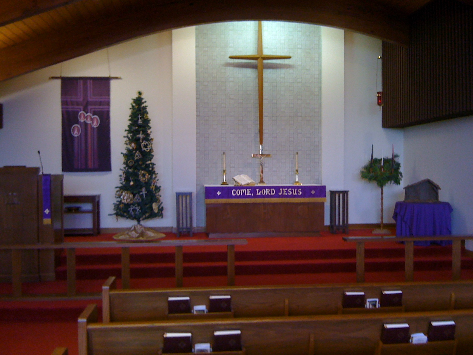 Abide in my word church decorating for Advent decoration ideas