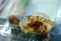 Tofu Rice Paper Roll with Chia Seeds