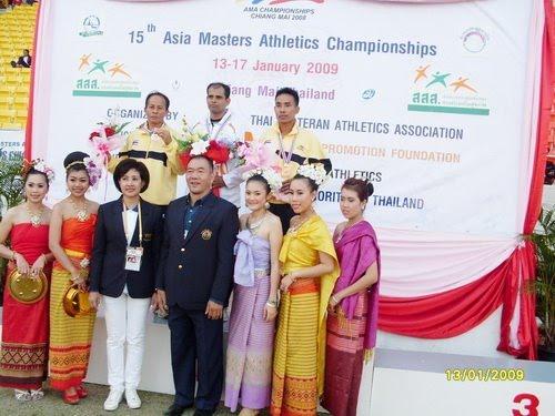 อันดับ 2  กรีฑาสูงอายุชิงชนะเลิศแห่งเอเชีย