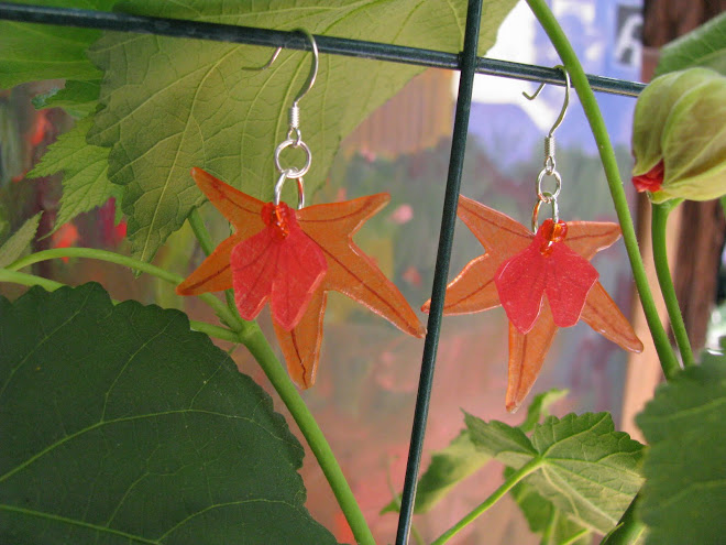 maple & gingko leaves
