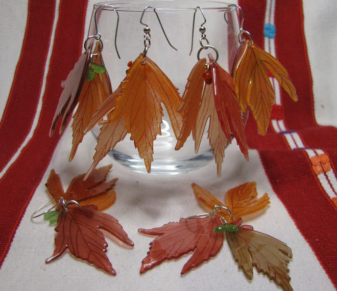 autumn leaves & maple seedpods