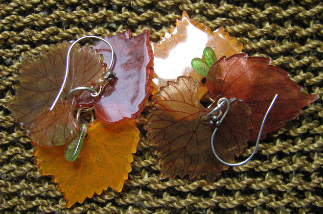 grape leaves & japanese maple seedpods