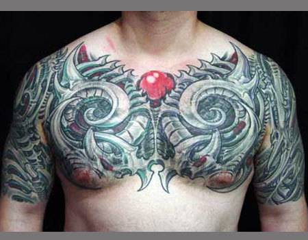 Girls and Boys like these tattoos. These Biomechanical Tattoos can be