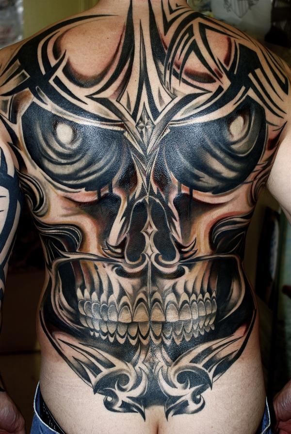 Tribal Skull Tattoo Designs