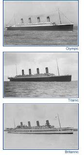 Titanic , Olympic y Britannic