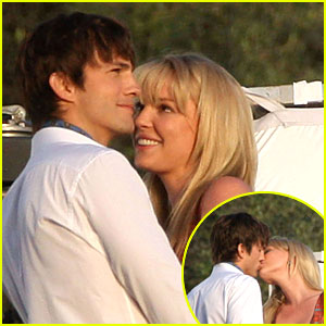 Killers Heigl & Kutcher Aplusk kissing