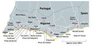 Mapa general del Algarve