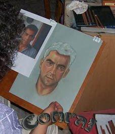 Retratos a pastel