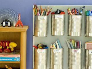 organizar com latas