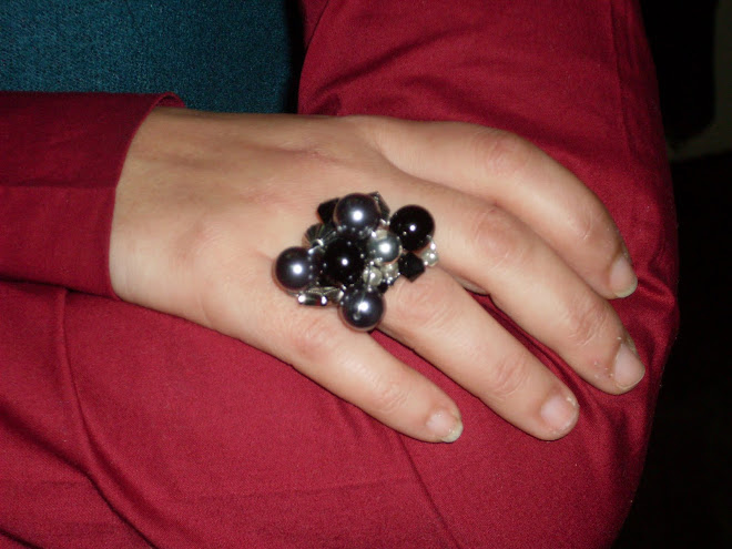 Anel Black Silver