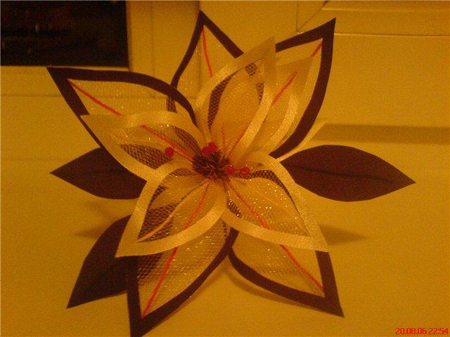 Цветы из сетки своими руками мастер класс видео