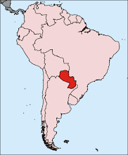 Paraguay: Latitude 27 South, Longitude 57 West