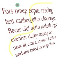 Example of jumbled text.
