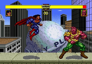 Yes, Superman can fly in this game. Too bad he can't fly out of this game.